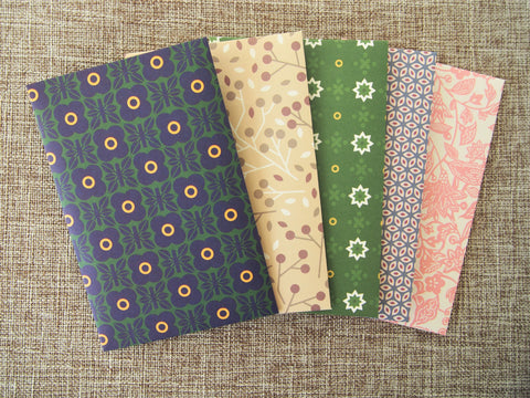 Contemporary natural design money envelopes--set of 5 in wide design