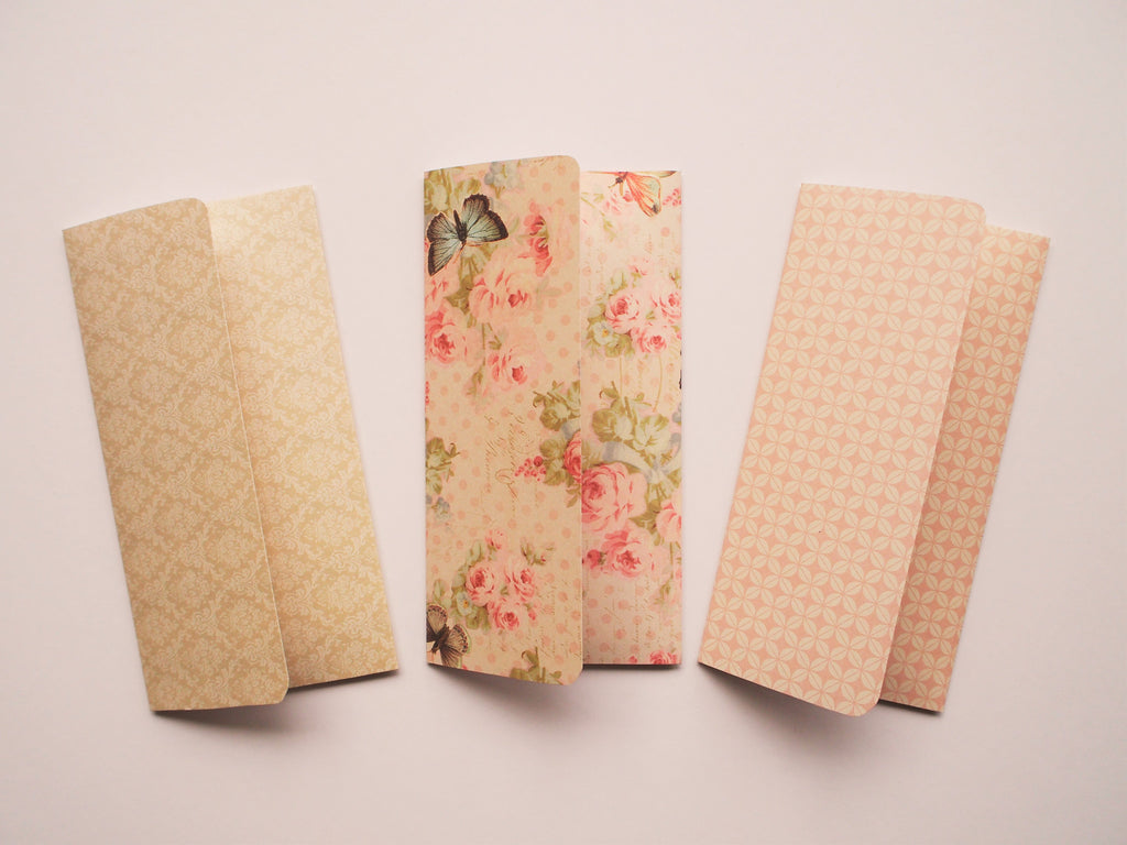 Charming money envelopes in natural beige hues--set of 3