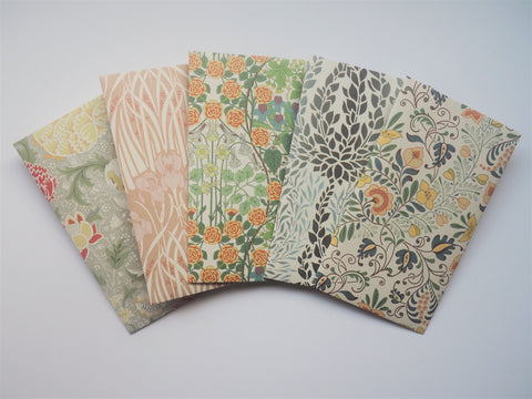 Pastel twirling tendrils set of 5 money envelopes--for Eid, Christmas and weddings in jumbo or tall sizes