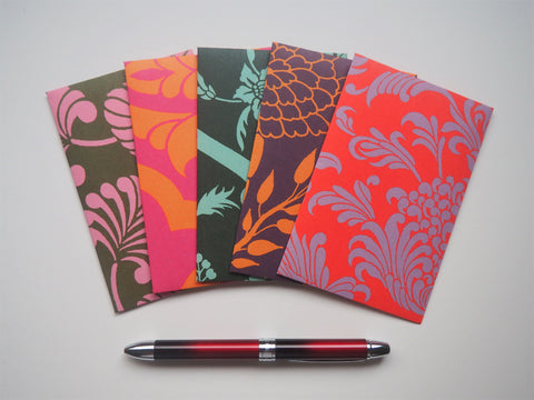 Bold flourishes money envelopes for Eid, Christmas, CNY and boho weddings--set of 5 in wide design