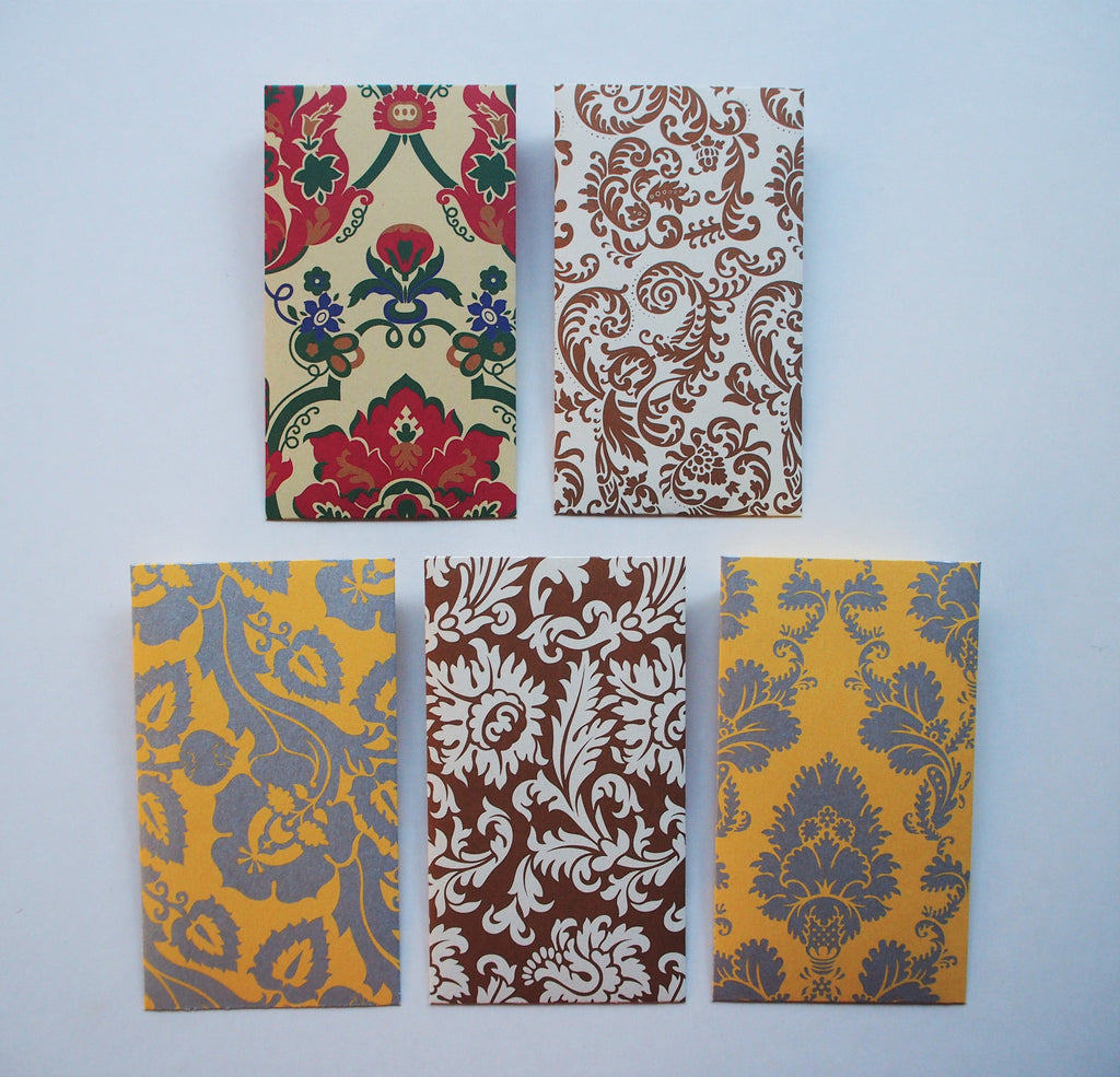 Luxury baroque Eid money envelopes--set of 5 in tall or horizontal designs