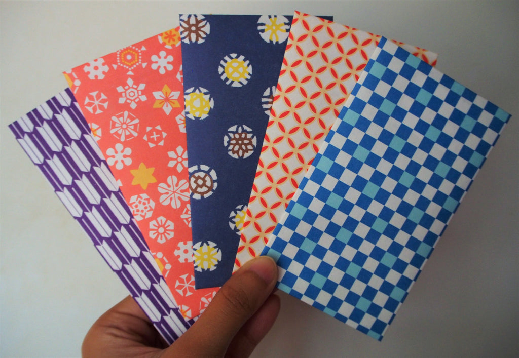 Origami Paper Gift Envelopes With Bright Modern Designs Voucher Holders Cards For