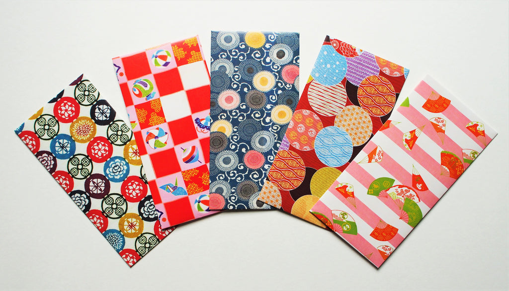 Playful and colourful jumbo-sized money envelopes, voucher holders or gift card holders for kids