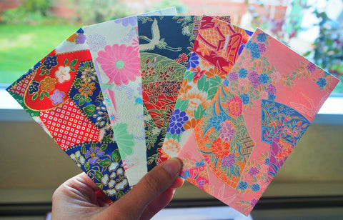 Premium origami money envelopes in fair colours