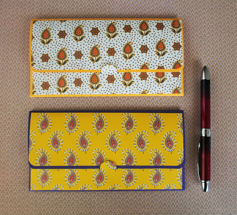 Indian paisley money envelopes, gift card or voucher holders for Diwali, Deepavali--set of 2