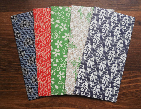 Lovely nature motifs money envelopes-set of 5 for Christmas in jumbo size