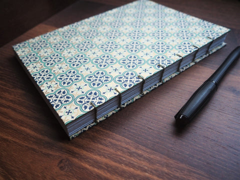 2021 year planner and organizer: hand-bound with exposed binding on the spine in 3 beautiful styles