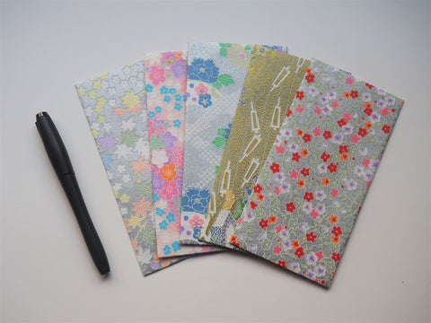 Jumbo premium origami money envelopes in silver, gold and pastel--set of 5 limited edition for CNY
