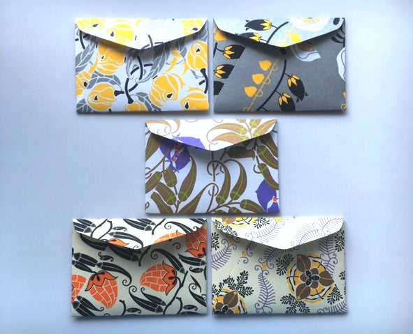 Fun florals sampul duit raya/ money envelopes for Eid, Chinese New Year and Christmas--set of 5