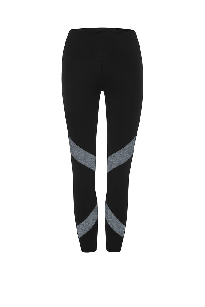 Black Mesh Panels 7/8 Legging - Only S left!