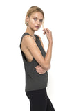 Bamboo Classic Boyfriend Tank - Charcoal - Only Small left!