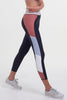 Whirl 7/8 Legging - Black Dusty Stripe
