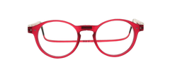 Lunettes Clic Brooklyn Rouge - cool-blue-com