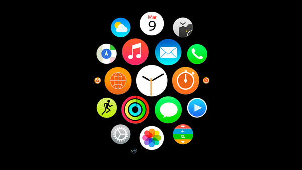 Apple Watch clustered app icons
