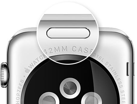 Apple Watch back swap button