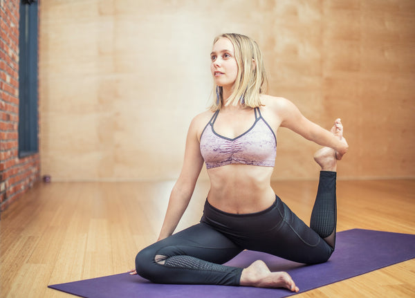 How to be healthy and fit yoga photo