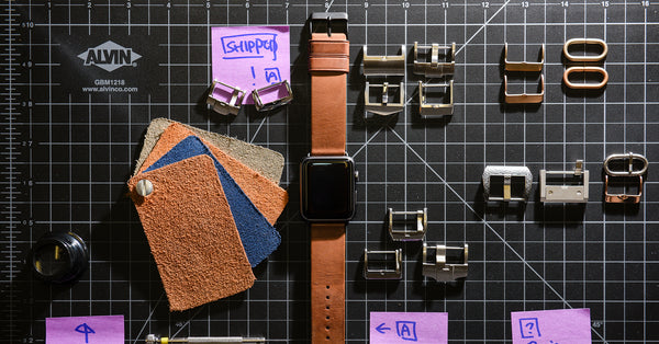 Designing the Monowear Classic Leather Apple Watch Band in Brown