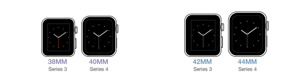 Apple Watch Series 4 vs Series 3 Size Comparison