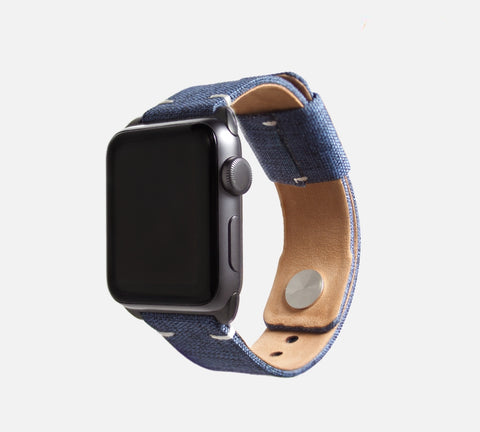 Urban Canvas Band - Apple Watch Monowear Denim Blue