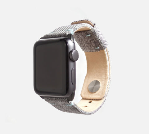 Urban Canvas Band - Apple Watch Monowear Plaid Gray