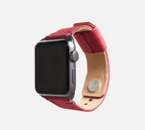 Urban Canvas Band - Apple Watch Monowear Vintage Red
