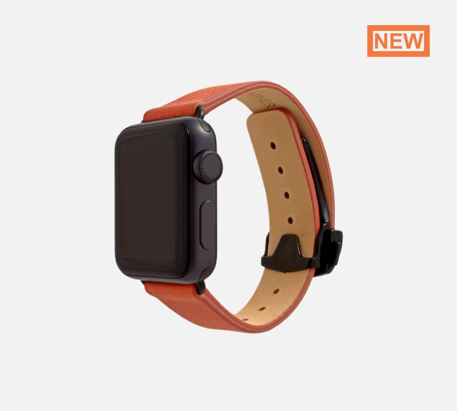 monowear apple watch Deployant Reserve leather band