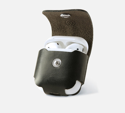 Leather AirPods Case Black