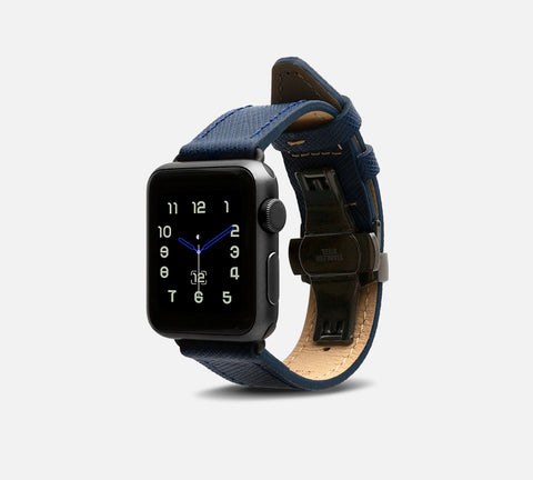 Saffiano Leather Band - Apple Watch Monowear Sapphire