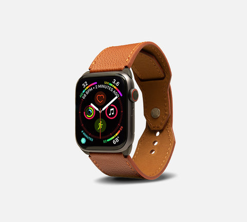 Contemporary Leather Cuff - Apple Watch Monowear Saddle