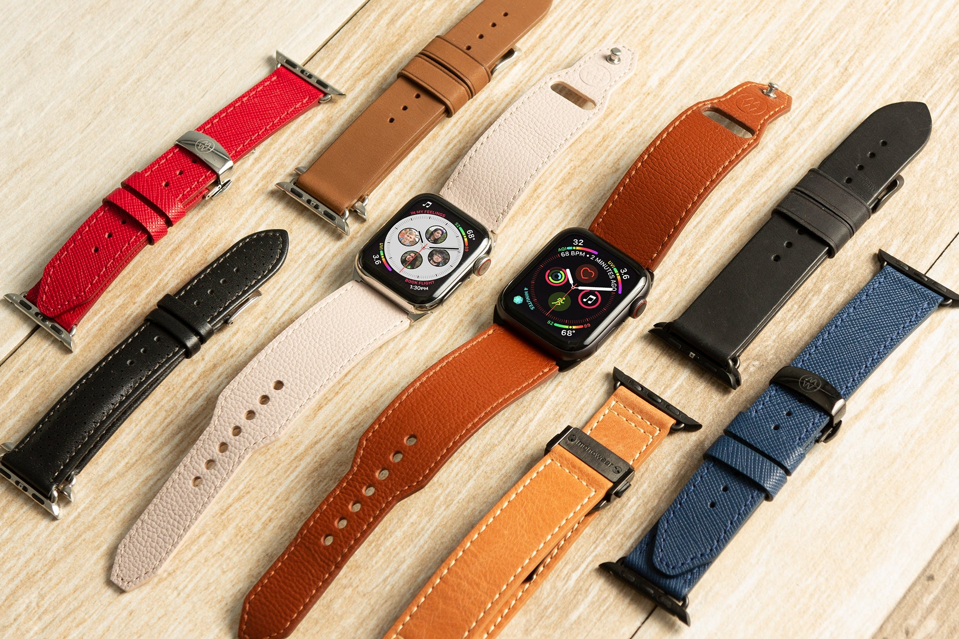 Contemporary Leather Cuff - Apple Watch Monowear
