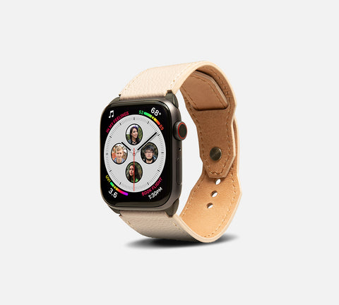 Contemporary Leather Cuff - Apple Watch Monowear Taupe