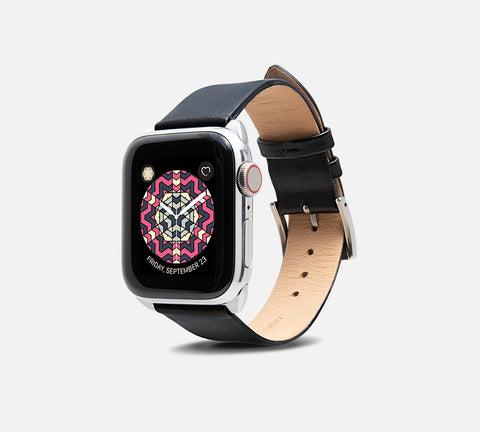 Cocktail Leather Band - Apple Watch Monowear Silky Tuxedo