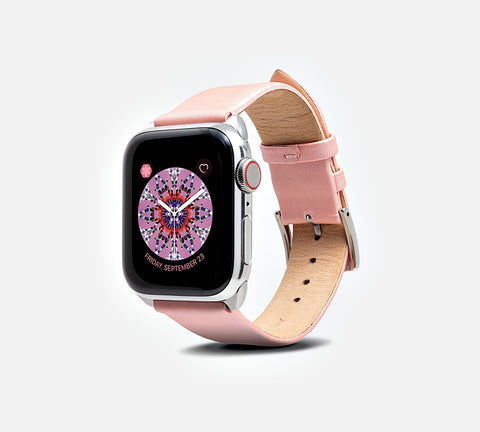 Cocktail Leather Band - Apple Watch Monowear Peony Ribbon