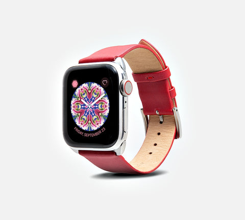 Cocktail Leather Band - Apple Watch Monowear Poppy Ribbon