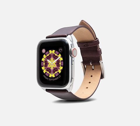 Cocktail Leather Band - Apple Watch Monowear Silky Sangria