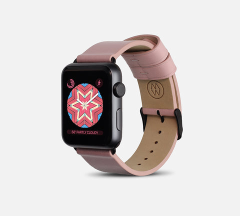 Classic Leather Band - Apple Watch Monowear Blush