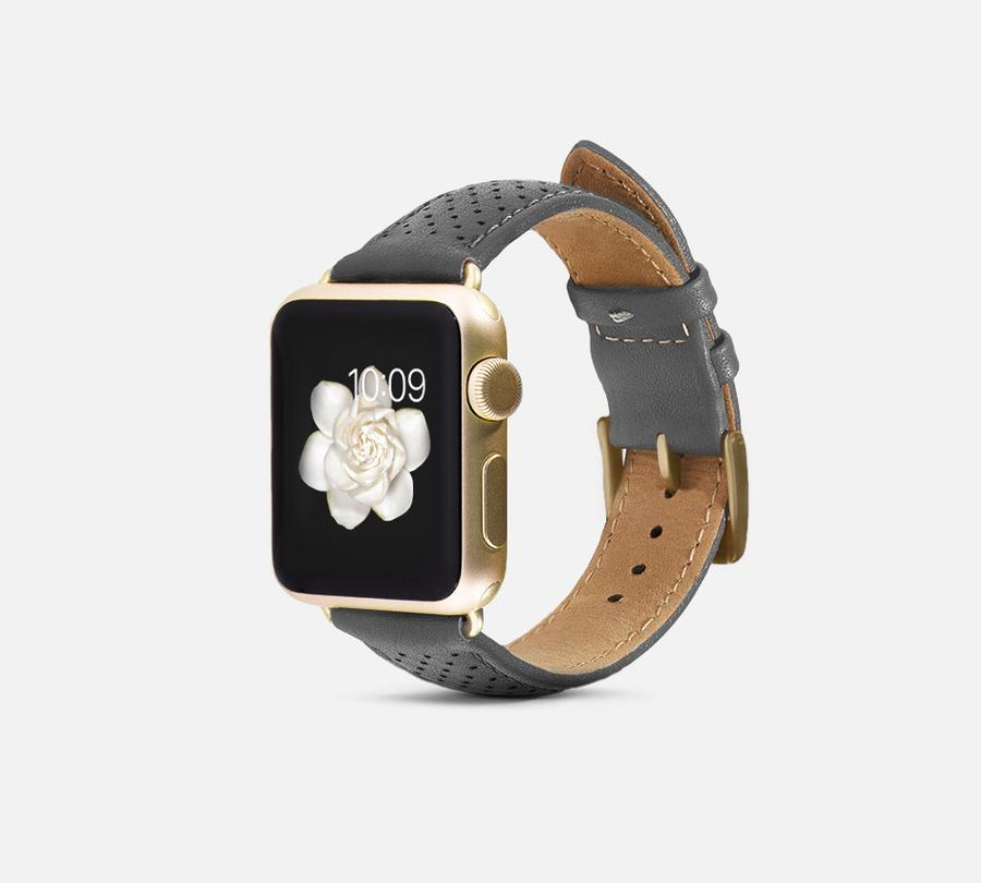 Perforated Leather Band - Apple Watch Monowear