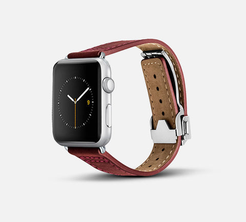 Leather Deployant Band Red