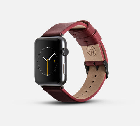 Classic Leather Band Red