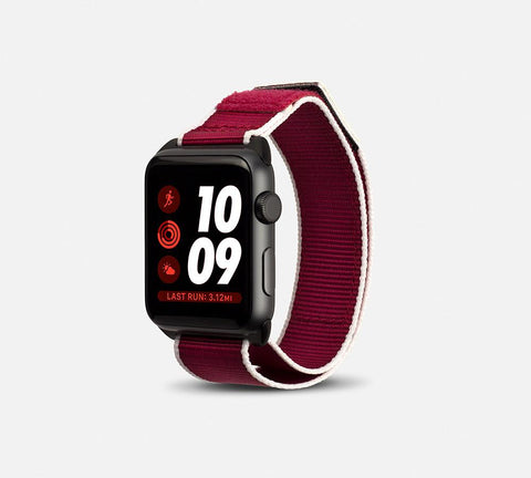 Nylon Active Vibe Band - Apple Watch Monowear Cherry