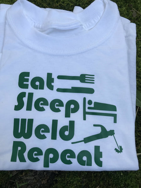 Eat, Sleep, Weld, Repeat Welder Infant/Children's T-Shirt