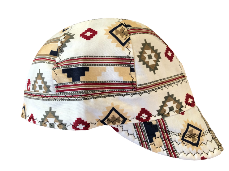 Aztec Print 100% Cotton UnLined Welders Cap