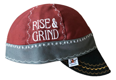 Rise & Grind Embroidered Canvas Size 7 3/4 Prewashed Welders Cap