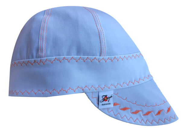 White Pipeliner #SoComfort Welders Cap W/FR Bill Custom Embroidery is Available!