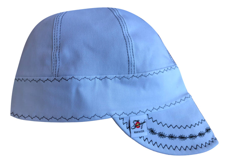 White Pipeliner #SoComfort Welders Cap W/FR Bill
