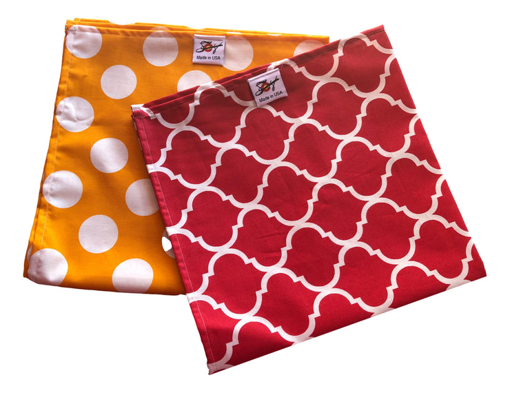Red Or Yellow Print 100% Cotton Bandanna