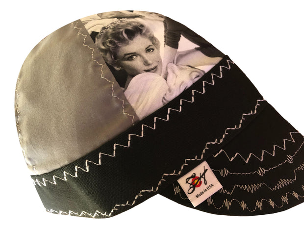 Marilyn Monroe Grey Scale Black and White Hybrid Welders Cap