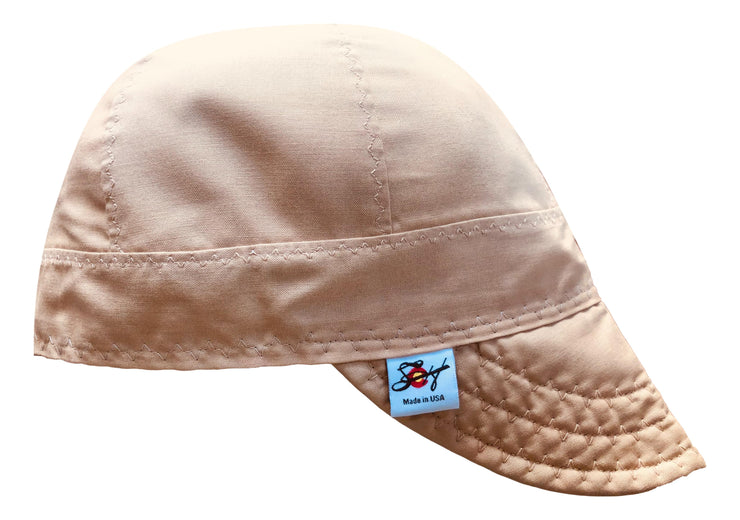 Khaki 7 3/8 100% Cotton Lined Welders Cap