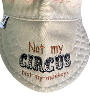 Not My Circus Not My Monkeys Embroidered Hybrid Welding Cap