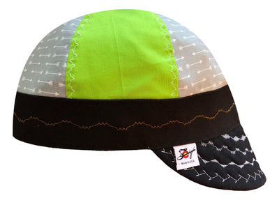 One of a Kind Mixed Panel Size 7 3/8 Hybrid Welding Cap